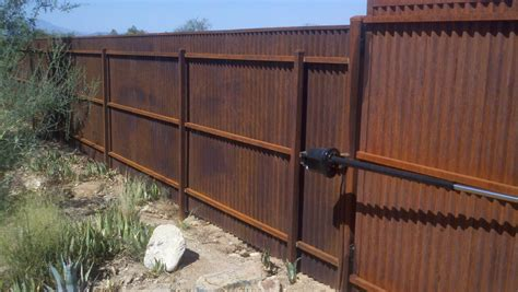 corrugated metal fence corrugated steel fence and gates 183 affordable fence gates