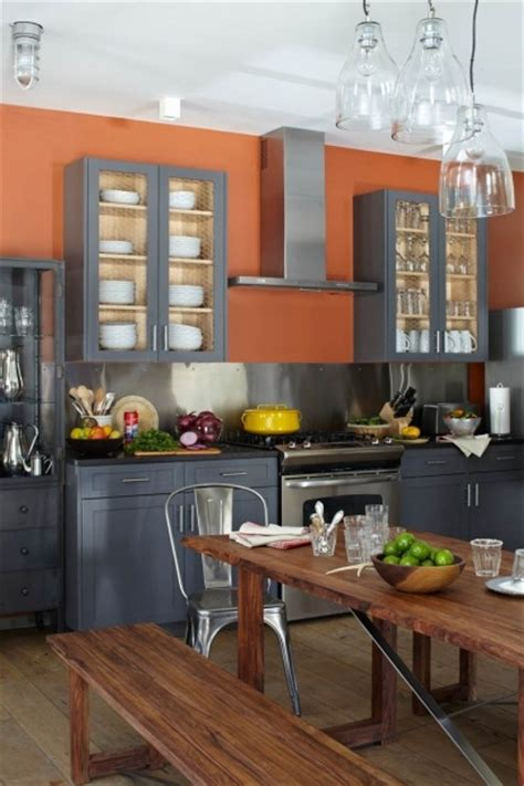 peach kitchen grey cabinets bavarian chalet kitchen