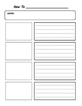 procedural writing template how to writing planning organizer writing how to writing literacy school and