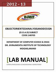 Ooad Lab Manual Original