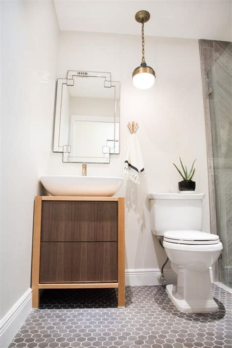 country small bathroom  mosaic tile floor hgtv