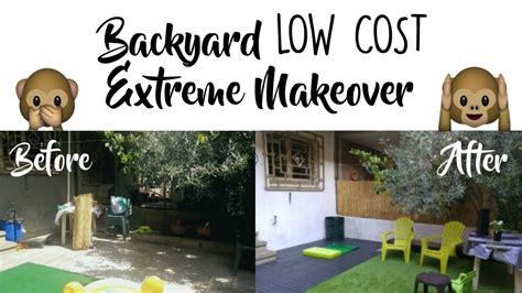 Cheap Backyard Makeover by Backyard Makeover On A Budget Before After