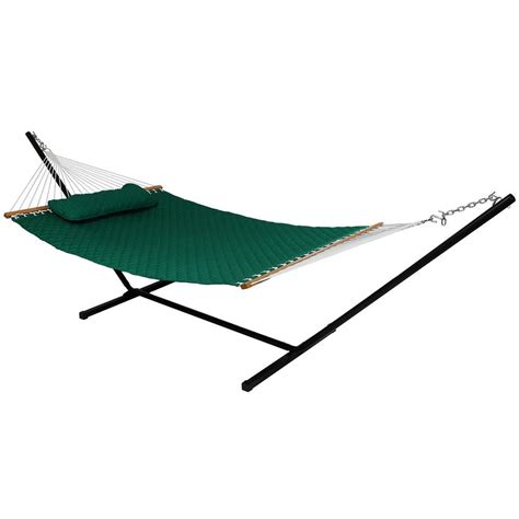 3 Person Hammock by Sunnydaze Decor 10 3 4 Ft Quilted Fabric 2 Person