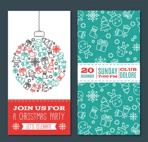 creative christmas party invitations creative invitation card vector download free vector 3d model icon youtoart