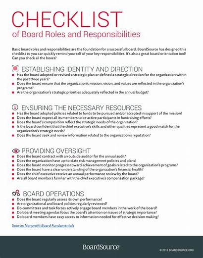 Officer Resume Board Checklist Roles Responsibilities Fundraising