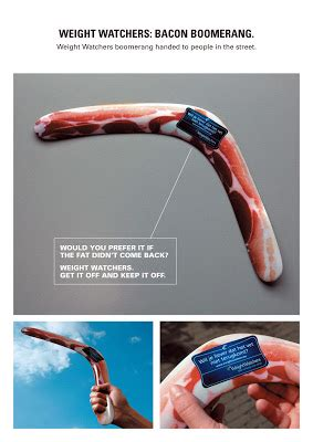 creative  interesting advertisements promoting weight loss