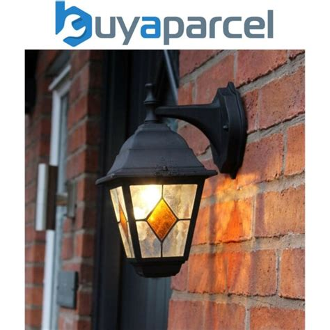 outdoor victorian style porch wall light stained glass
