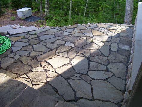 fieldstone patio huntinrod project bayfield wisconsin side flagstone patio wisconsin projects pinterest