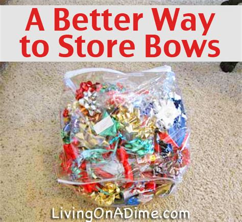 how to best store christmas bows a better way to store and bows living on a dime