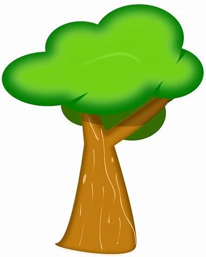 Tree Cartoon Clipart Bark Forest Clip Trunk