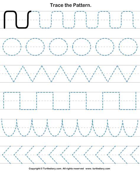 pattern tracing worksheet turtle diary