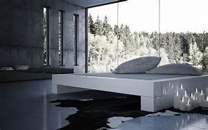 Modernes Bett 180x200 : bett somnium minimalistisches design bett von rechteck ~ Watch28wear.com Haus und Dekorationen