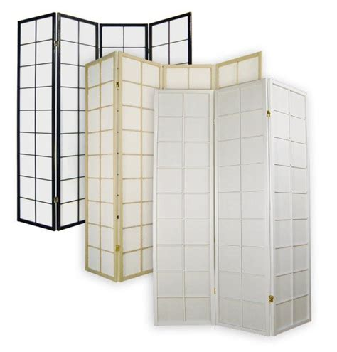 Japanese Room Divider Shoji Rice Paper 4 Panel Traditional