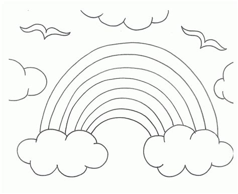 Rainbow Coloring Book For Kids Rainbow Coloring Pages
