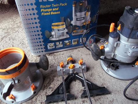 rona router twin pack plunge fixed bases west carleton