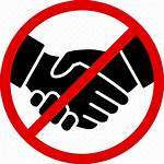 Icon Handshake Shake Ban Icons Signs Cross