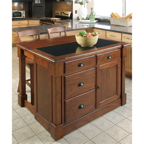 kitchen island granite top aspen rustic cherry granite top kitchen island w