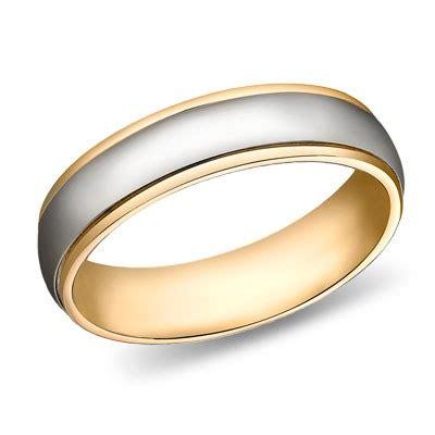 mm   tone gold huntington wedding band