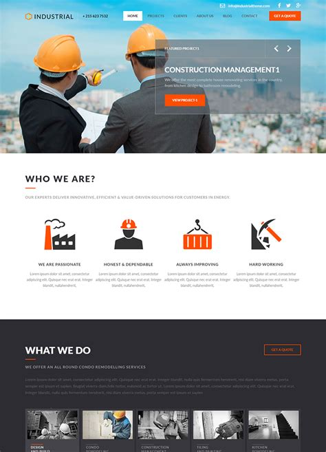 Free Html5 Templates Industrial Html5 Template Buy Premium Industrial Html5