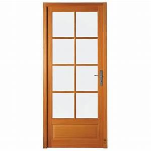 porte bois vitree interieure urbantrottcom With porte de garage coulissante avec bloc porte vitree intérieure