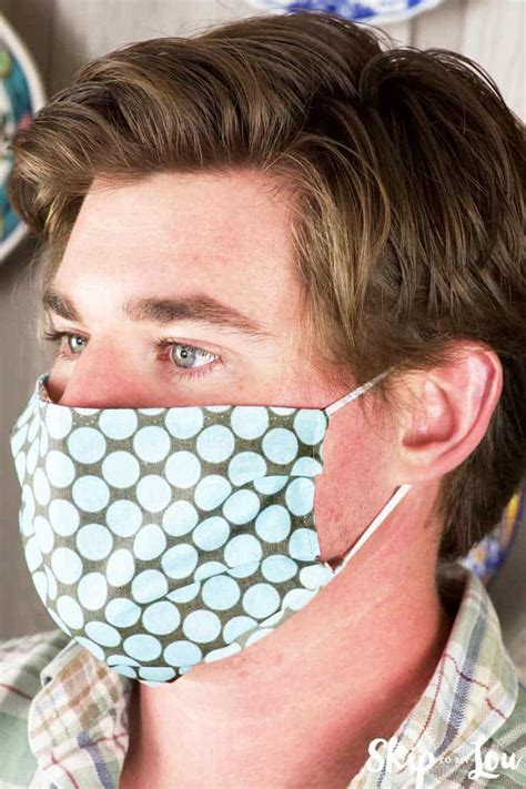 easy diy face mask pattern  printable skip   lou