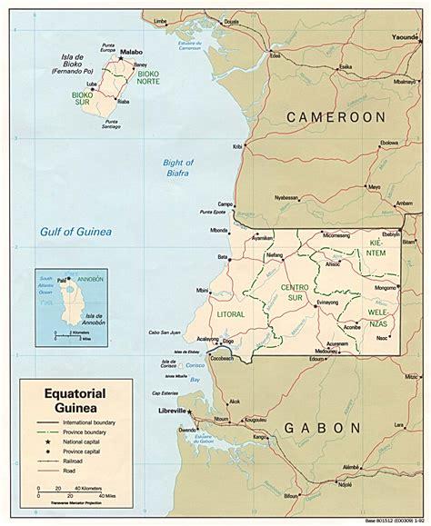 Mapa Político Guinea Ecuatorial 1992