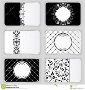Black And White Cards Vintage Business Cards Royalty Free Stock Images Image