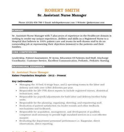 registered nurse nursing cv template australia contoh