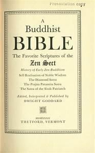 A Buddhist Bible  Title Page