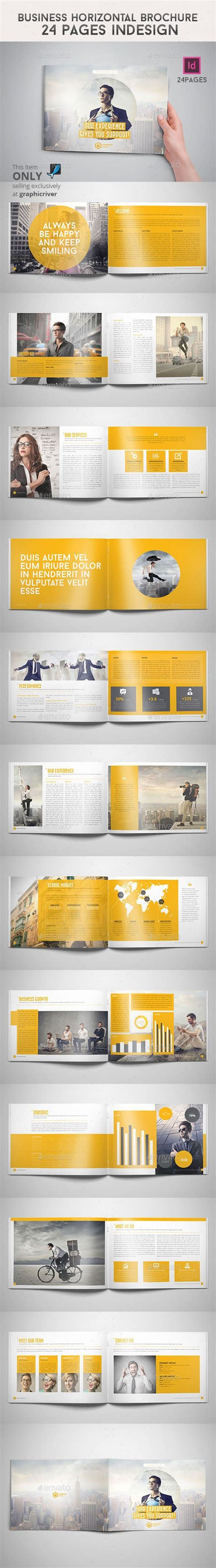 business horizontal brochure  pages indesign