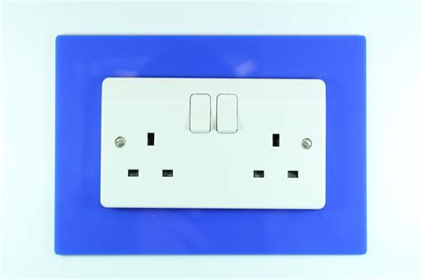 classikool single or double light switch plug socket wall