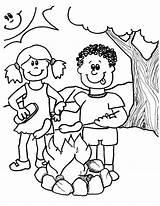 Coloring Camping Printable Church Popular sketch template