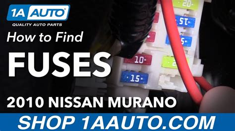 Where Find How Change Fuses Nissan Murano