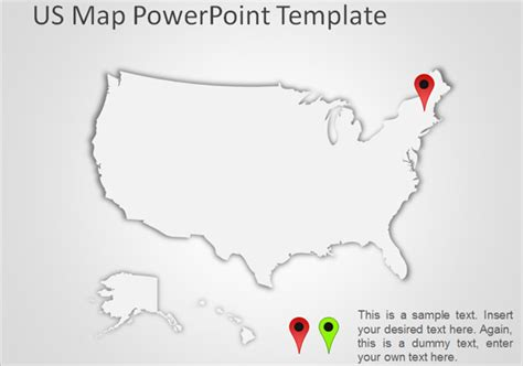 blank united states map  powerpoint