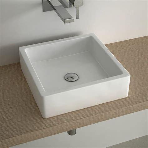 robinetterie vasque a poser pack promo vasque 224 poser carr 233 40x40 cm c 233 ramique robinetterie et vidage inclus
