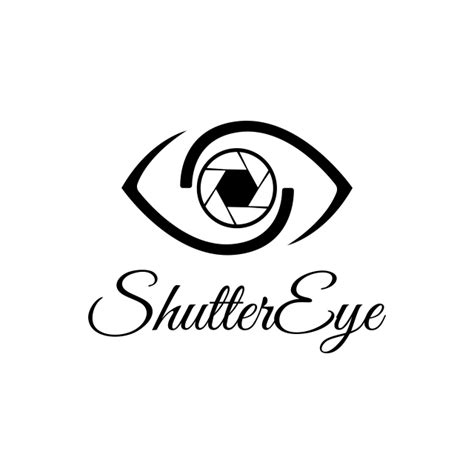 vector shutter eye photography logo design template black