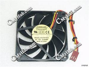 Genuine For Everflow R127015dh Dc12v 0 30a 3pin 3wire 7015
