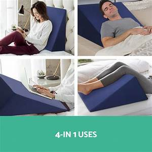 1x 2x memory foam bed wedge pillow cushion neck back With back wedge for sleeping
