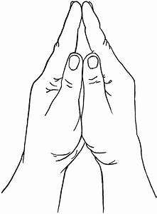 Praying Positioned Hands