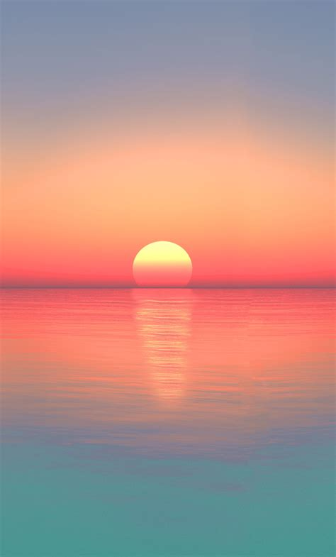Phone wallpapers #iphonewallpaper #iphonebackground #iphonebackgrounds #androidwallpaper #iphonewallpapers #iphonexbackgrounds. 1280x2120 Calm Sunset Ocean Digital Art 5k iPhone 6+ HD 4k Wallpapers, Images, Backgrounds ...