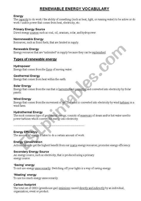 renewable and non renewable energy worksheet renewable and non renewable energy worksheet advanced