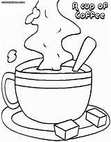 Coffee Coloring Colorings Coffee8 sketch template