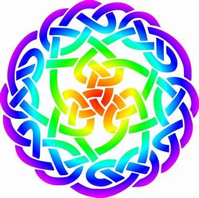 Celtic Knot Rainbow Clipart Svg Purple Colours