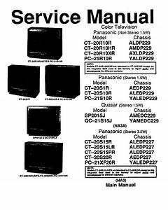 Panasonic Ct20r10 Tv Sm Service Manual Free Download
