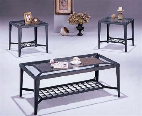 Buy Low Price 3pc Coffee Table & End Table Set Black Bunn Coffee Maker Clean Flashing Timer Makers For Sale Overflows Round Tables With Casters French Press Iced Qualicum Beach Keeps Overflowing