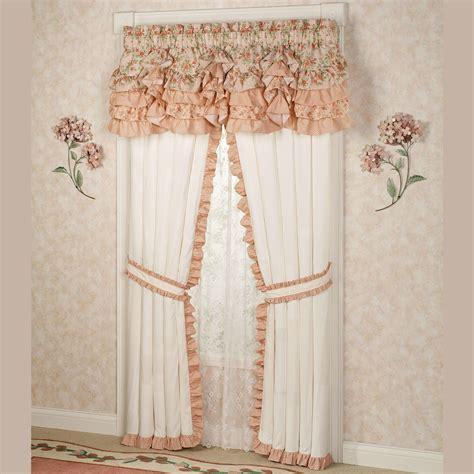 Ruffle Drapes - melody floral ruffled window treatments