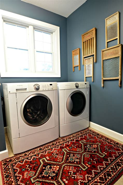 laundry room makeover reveal laundry room colors blue