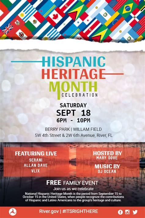 hispanic heritage month musical event custom posterflyer