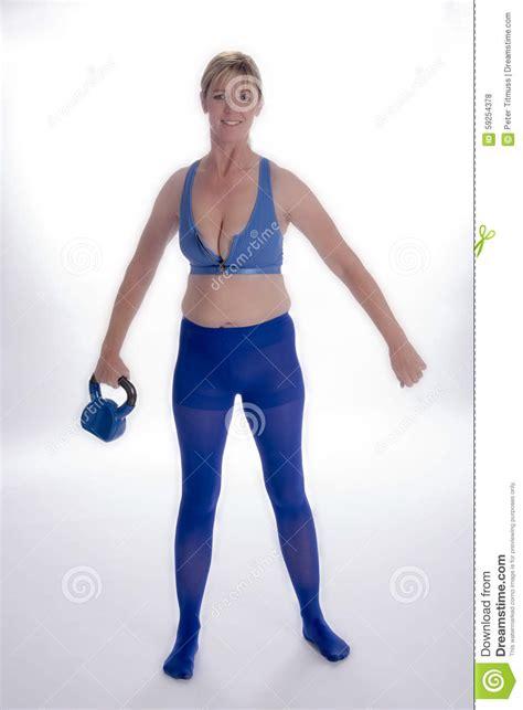 kettle exercising bell using woman endowed revealing