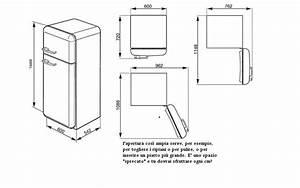 Dimensioni frigorifero frigorifero combinato da incasso for Frigo smeg misure